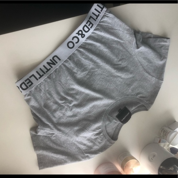 Untitled and Co t-shirt cropped top